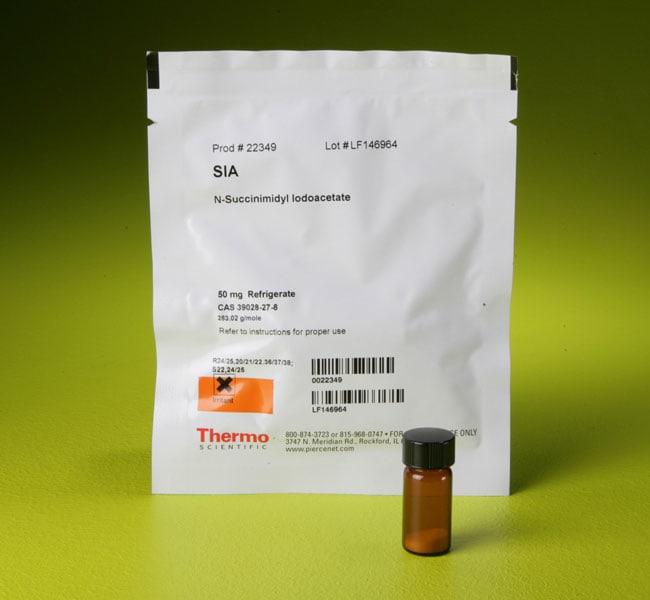 Thermo Scientific SIA (succinimidyl iodoacetate) Reactive groups: NHS ester