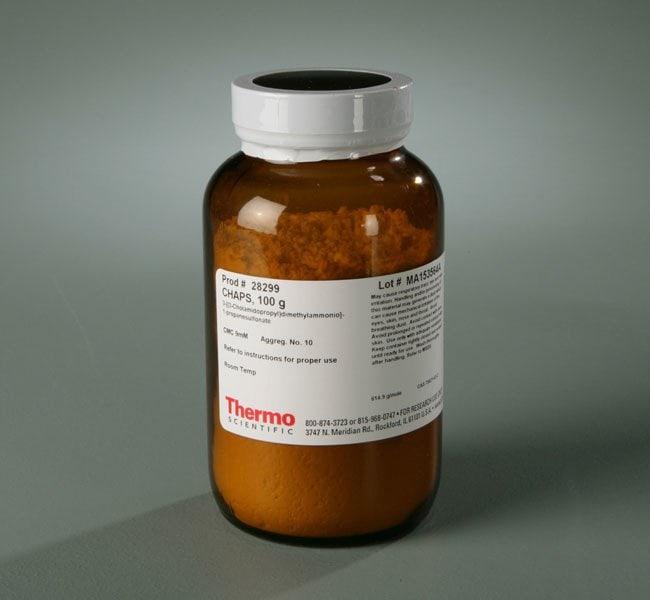 Thermo Scientific™CHAPS Detergent (3-((3-cholamidopropyl) dimethylammonio)-1-propanesulfonate) CHAPS; 100g Thermo Scientific™CHAPS Detergent (3-((3-cholamidopropyl) dimethylammonio)-1-propanesulfonate)