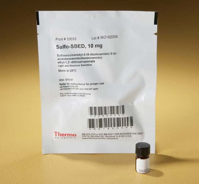 Thermo Scientific™Sulfo-SBED Biotin Label Transfer Reagent, No-Weigh™ Format 10mg Thermo Scientific™Sulfo-SBED Biotin Label Transfer Reagent, No-Weigh™ Format