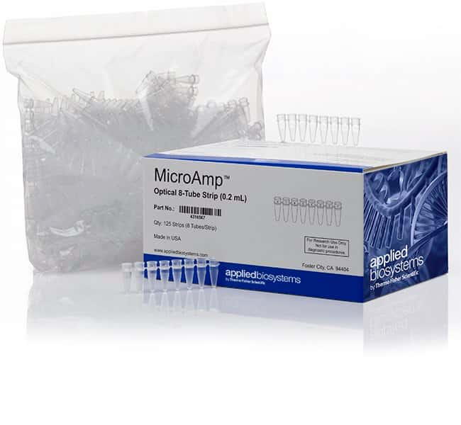 Applied Biosystems MicroAmp Optical 8-Tube Strip, 0.2 mL  125 strips:Life