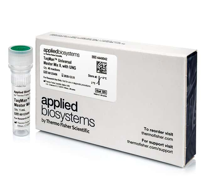 Applied Biosystems™ TaqMan™ Universal Master Mix II, With UNG Universal Master Mix II, with UNG, 5x5mL Applied Biosystems™ TaqMan™ Universal Master Mix II, With UNG