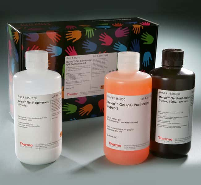 Thermo Scientific™Ascites Conditioning Reagent for Melon™ Gel Monoclonal IgG Purification Kit Kit with 200mL resin; 200mL-resin kit Thermo Scientific™Ascites Conditioning Reagent for Melon™ Gel Monoclonal IgG Purification Kit