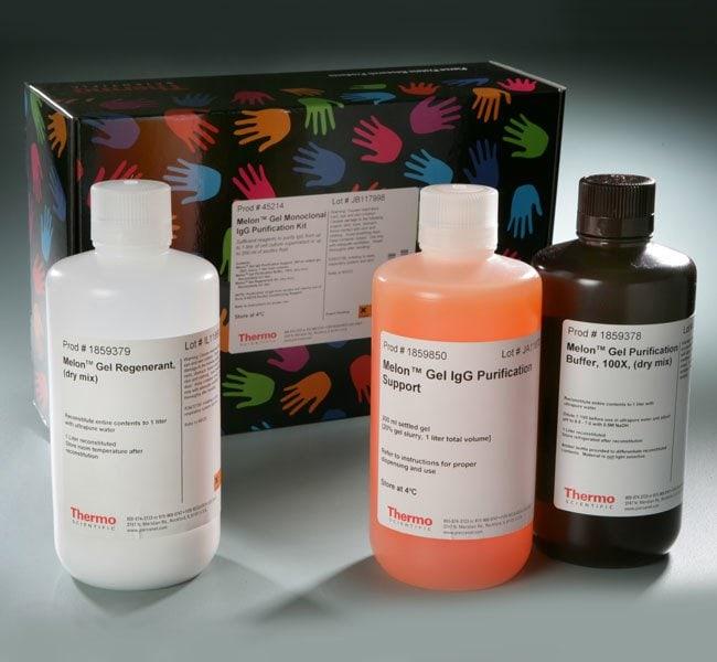 Thermo Scientific™Melon™ Gel Monoclonal IgG Purification Kit Kit with 200mL resin; 200mL-resin kit Résines et kits de purification d'igG spéciaux