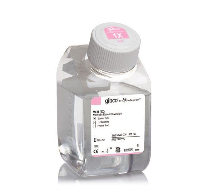 Gibco MEM, no glutamine, no phenol red    500mL:Cell Culture