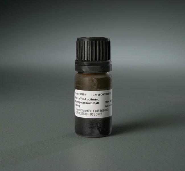 Thermo Scientific™Pierce™ D-Luciferin, Monopotassium Salt Monopotassium Salt; 100mg Thermo Scientific™Pierce™ D-Luciferin, Monopotassium Salt