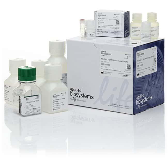 Applied Biosystems™ MagMAX™ DNA Multi-Sample Ultra Kit 500 preps, with extra proteinase K and DNA binding beads Applied Biosystems™ MagMAX™ DNA Multi-Sample Ultra Kit