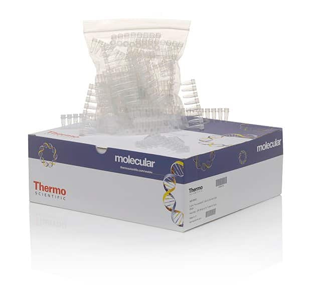 Thermo Scientific™ Tubes and Flat Caps, strips of 8, assorted colors 8-Tube strip; Natural; Without caps; 250 strips Thermo Scientific™ Tubes and Flat Caps, strips of 8, assorted colors