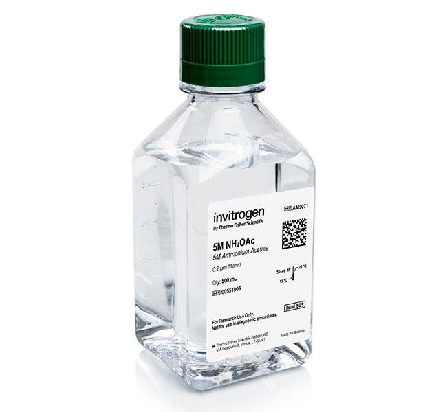 Invitrogen™Ammonium Acetate (5 M), RNase-free 500mL Invitrogen™Ammonium Acetate (5 M), RNase-free