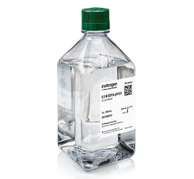 Invitrogen™EDTA (0.5 M), pH 8.0, RNase-free 1L Invitrogen™EDTA (0.5 M), pH 8.0, RNase-free