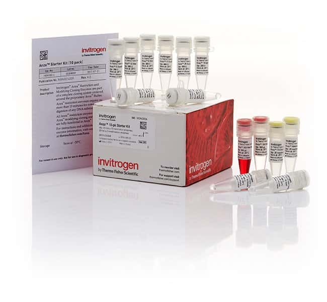 Invitrogen™Anza™ 10-Pack Starter Kit No. of Reactions:  20 reactions per enzyme Aa - Bz Restriction Enzymes