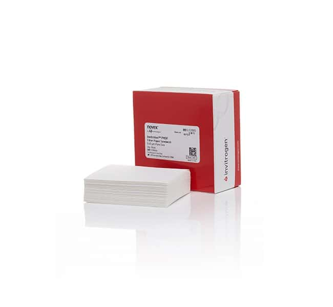 Invitrogen™ Invitrolon™ PVDF/Filter Paper Sandwiches, 0.45 µm, 8.3 x 7.3 cm (for mini gels) 20/pack Western Blotting Reagents and Kits