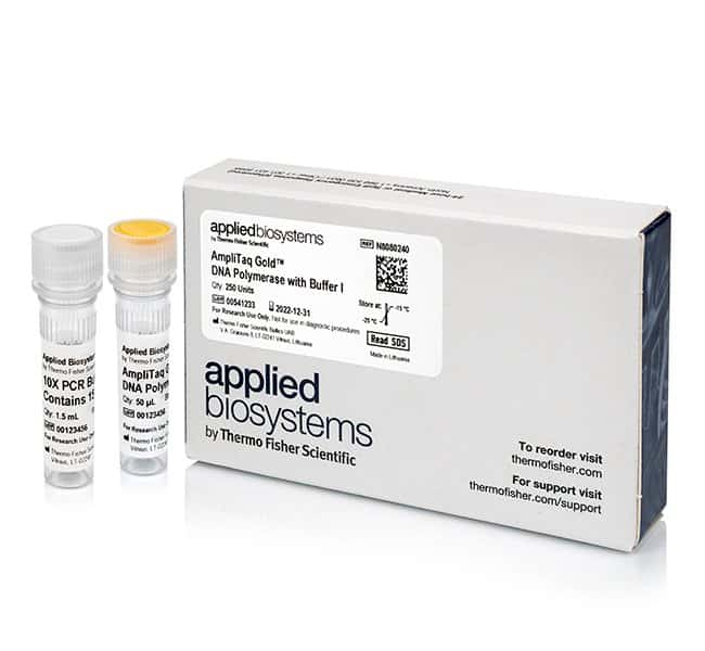 Applied Biosystems™ AmpliTaq Gold™ DNA Polymerase with Buffer I 250 units Applied Biosystems™ AmpliTaq Gold™ DNA Polymerase with Buffer I